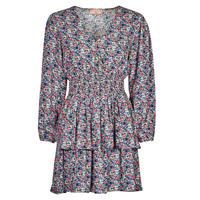 tekstylia Damskie Sukienki krótkie Moony Mood PAPIS Różowy