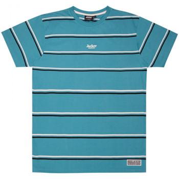 tekstylia Męskie T-shirty z krótkim rękawem Jacker Poh stripes Niebieski