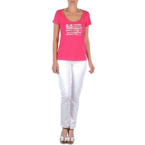 tekstylia Damskie Spodnie z pięcioma kieszeniami Tommy Hilfiger LENNY Różowy
