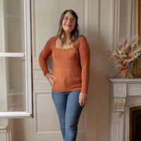 tekstylia Damskie Swetry Céleste NYSSA Rouille