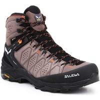 Buty Męskie Trekking Salewa Buty hikingowe  MS Alp Trainer 2 Mid GTX 61382-7512 czarny, brązowy