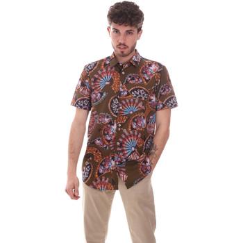 tekstylia Męskie Koszule z krótkim rękawem Sseinse CE665SS Zielony