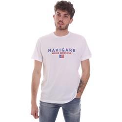 tekstylia Męskie T-shirty z krótkim rękawem Navigare NV31139 Biały