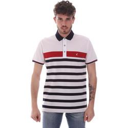 tekstylia Męskie Koszulki polo z krótkim rękawem Navigare NV70028 Biały