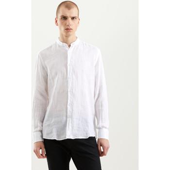 tekstylia Męskie Koszule z długim rękawem Refrigiwear RM0C10100LI9110 Biały