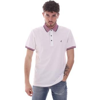 tekstylia Męskie Koszulki polo z krótkim rękawem Navigare NV82125 Biały
