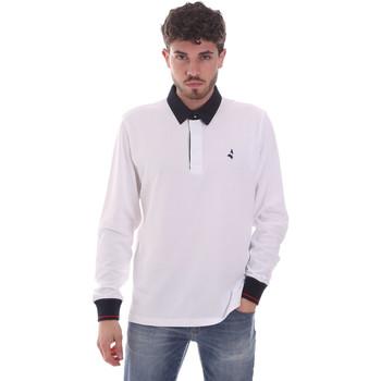 tekstylia Męskie Koszulki polo z długim rękawem Navigare NV32024 Biały