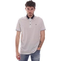tekstylia Męskie Koszulki polo z krótkim rękawem Navigare NV70034 Biały