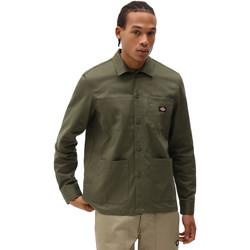 tekstylia Męskie Koszule z długim rękawem Dickies DK0A4XEIMGR1 Zielony