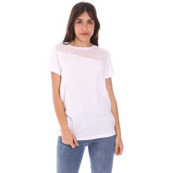 tekstylia Damskie T-shirty z krótkim rękawem Ea7 Emporio Armani 3KTT34 TJ4PZ Biały
