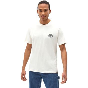 tekstylia Męskie T-shirty z krótkim rękawem Dickies DK0A4XENECR1 Biały