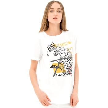 tekstylia Damskie T-shirty z krótkim rękawem Fracomina FR21ST3007J40110 Biały