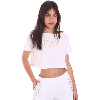 tekstylia Damskie T-shirty z krótkim rękawem Ea7 Emporio Armani 3KTT03 TJ28Z Biały