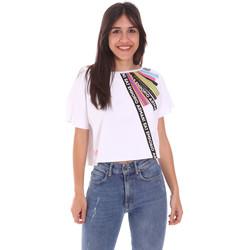 tekstylia Damskie T-shirty z krótkim rękawem Ea7 Emporio Armani 3KTT40 TJ39Z Biały