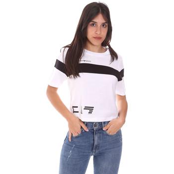 tekstylia Damskie T-shirty z krótkim rękawem Ea7 Emporio Armani 3KTT05 TJ9ZZ Biały