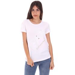 tekstylia Damskie T-shirty z krótkim rękawem Ea7 Emporio Armani 3KTT28 TJ12Z Biały