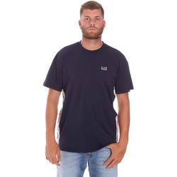 tekstylia Męskie T-shirty z krótkim rękawem Ea7 Emporio Armani 3KPT13 PJ02Z Niebieski