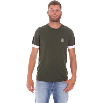 tekstylia Męskie T-shirty z krótkim rękawem Ea7 Emporio Armani 3KPT56 PJ4MZ Zielony
