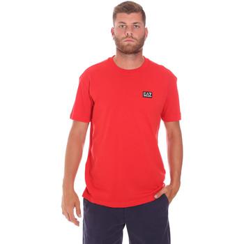 tekstylia Męskie T-shirty z krótkim rękawem Ea7 Emporio Armani 3KPT63 PJ6EZ Czerwony