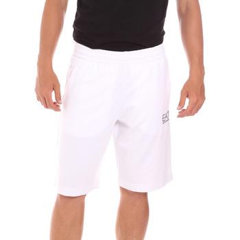 tekstylia Męskie Kostiumy / Szorty kąpielowe Ea7 Emporio Armani 3KPS59 PJ05Z Biały