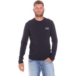 tekstylia Męskie T-shirty z długim rękawem Ea7 Emporio Armani 8NPT55 PJM5Z Niebieski