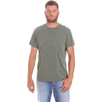 tekstylia Męskie T-shirty z krótkim rękawem Lumberjack CM60343 021EU Zielony