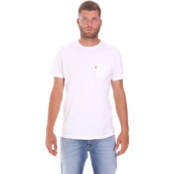 tekstylia Męskie T-shirty z krótkim rękawem Lumberjack CM60343 022EU Biały