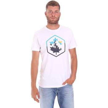 tekstylia Męskie T-shirty z krótkim rękawem Lumberjack CM60343 023EU Biały