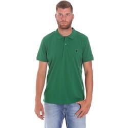 tekstylia Męskie Koszulki polo z krótkim rękawem Lumberjack CM45940 015EU 506 Zielony