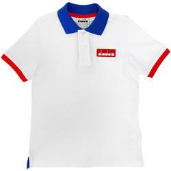 tekstylia Dziecko Koszulki polo z krótkim rękawem Diadora 102175907 Biały
