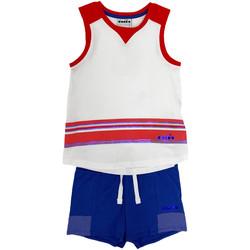 tekstylia Dziecko Komplet Diadora 102175915 Biały