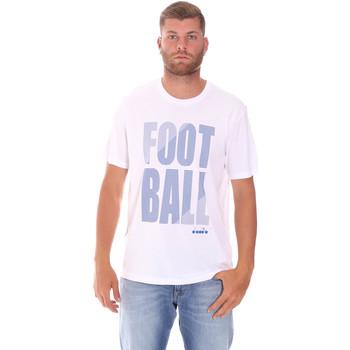 tekstylia Męskie T-shirty z krótkim rękawem Diadora 102175854 Biały
