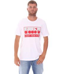 tekstylia Męskie T-shirty z krótkim rękawem Diadora 502175835 Biały