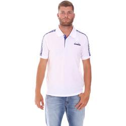 tekstylia Męskie Koszulki polo z krótkim rękawem Diadora 102175672 Biały