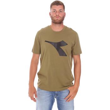 tekstylia Męskie T-shirty z krótkim rękawem Diadora 102175852 Zielony