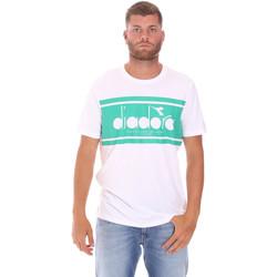 tekstylia Męskie T-shirty z krótkim rękawem Diadora 502176632 Biały