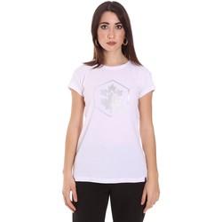 tekstylia Damskie T-shirty z krótkim rękawem Lumberjack CW60343 015EU Biały