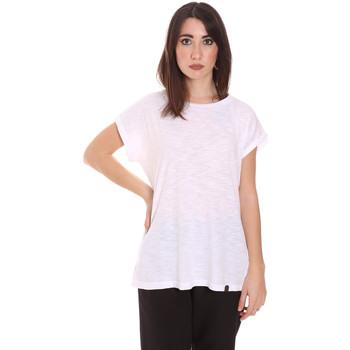 tekstylia Damskie T-shirty z krótkim rękawem Lumberjack CW60343 011EU Biały