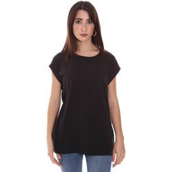 tekstylia Damskie T-shirty z krótkim rękawem Lumberjack CW60343 011EU Czarny