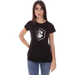 tekstylia Damskie T-shirty z krótkim rękawem Lumberjack CW60343 015EU Czarny