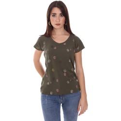 tekstylia Damskie T-shirty z krótkim rękawem Lumberjack CW60343 013EU Zielony