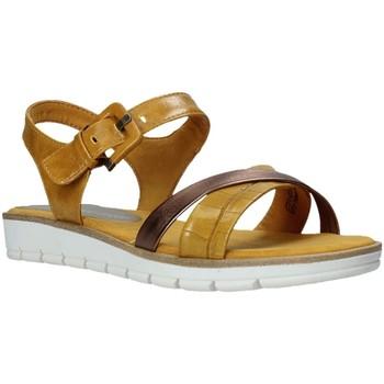 Buty Damskie Sandały Marco Tozzi 2-2-28607-26 Żółty