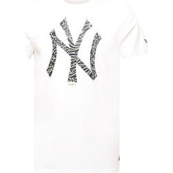 tekstylia Męskie T-shirty z krótkim rękawem New-Era 12369838 Biały