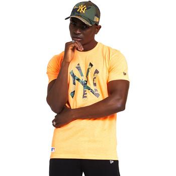 tekstylia Męskie T-shirty z krótkim rękawem New-Era 12369840 Pomarańczowy