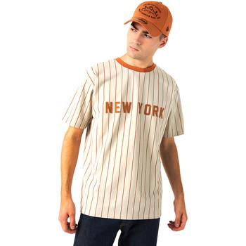 tekstylia Męskie T-shirty z krótkim rękawem New-Era 12720112 Beżowy