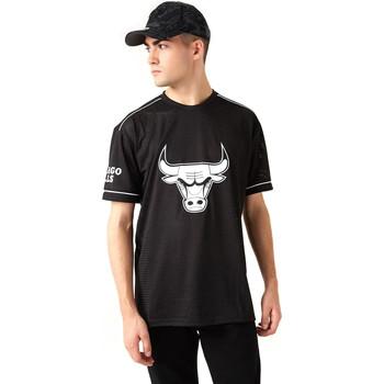 tekstylia Męskie T-shirty z krótkim rękawem New-Era 12720120 Czarny