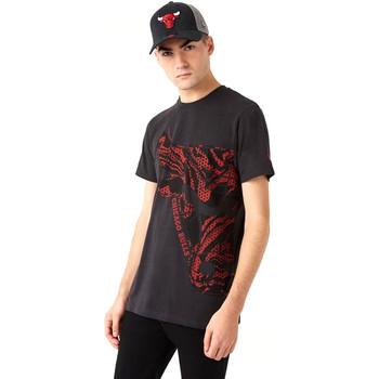 tekstylia Męskie T-shirty z krótkim rękawem New-Era 12720127 Czarny