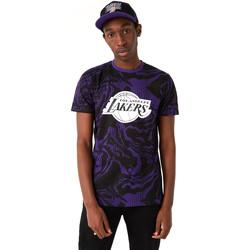 tekstylia Męskie T-shirty z krótkim rękawem New-Era 12720128 Czarny