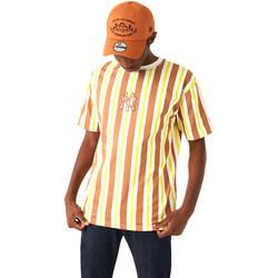 tekstylia Męskie T-shirty z krótkim rękawem New-Era 12720144 Brązowy