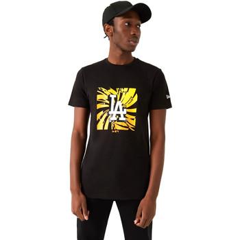 tekstylia Męskie T-shirty z krótkim rękawem New-Era 12720171 Czarny